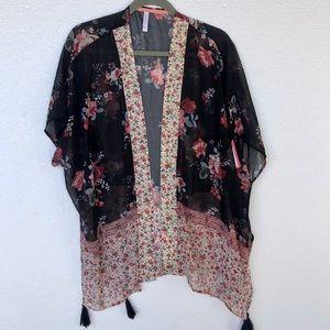 Xhilaration Floral Open Kimono NWT XS/S